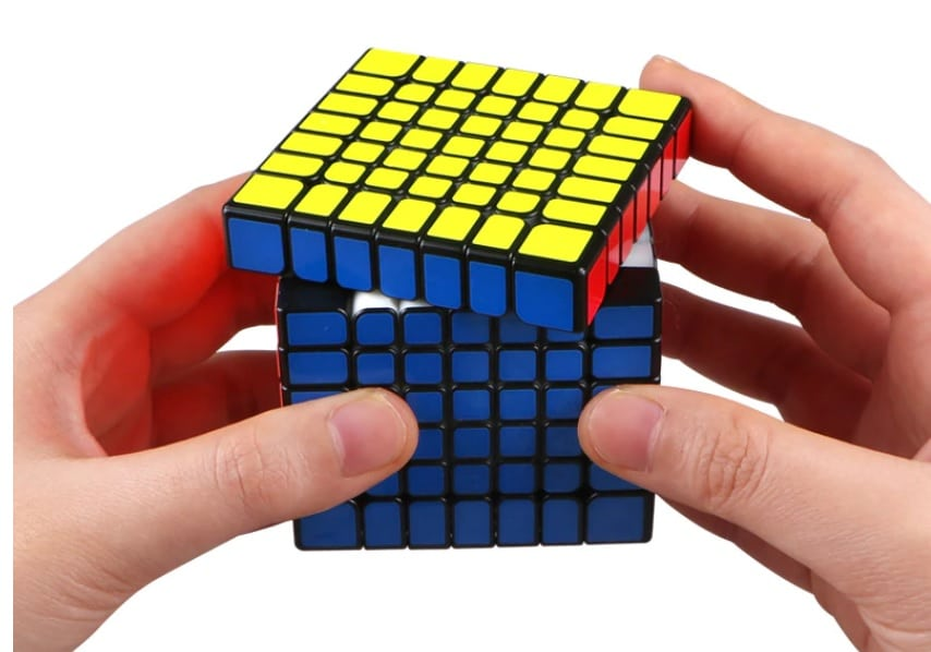 image of a 7x7x7 rubik's cube