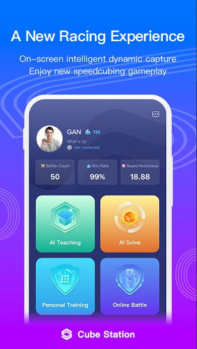 image of a cube station app