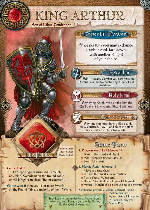 image of the King Arthur card