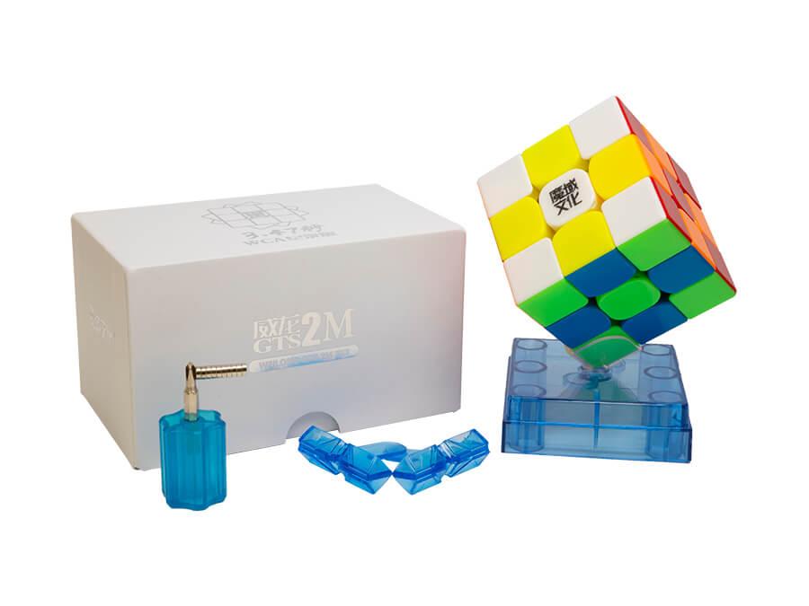 MoYu WeiLong GTS2 Black 3x3 Magic Cube MoYu WeiLong GTS V2 3x3x3