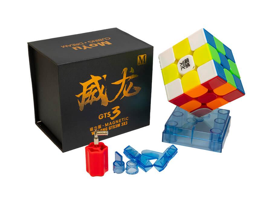 Moyu Weilong GTS3 M 3x3 Speed Cube Stickerless MagneticMoyu Weilong GTS3 M 3x3 Speed Cube Stickerless Magnetic