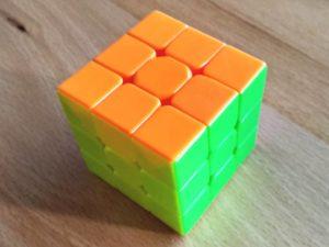 image of a stickerless speedcube
